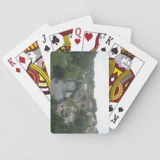 Pack of Playing Cards With Railway Bridge Picture