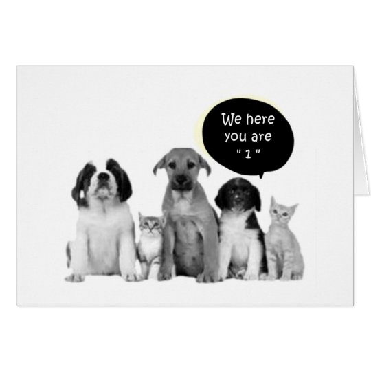 "PACK OF PUPPIES SAY HAPPY ""1st"" BIRTHDAY Card"