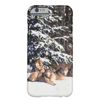 Pack of wolves in winter barely there iPhone 6 case