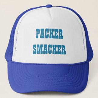 Packer Smacker In Detroit Blue Trucker Hat