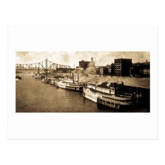 Packet Landing Monongahela River Vintage Postcard