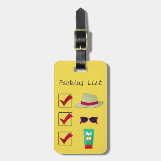 Packing List Luggage Tag