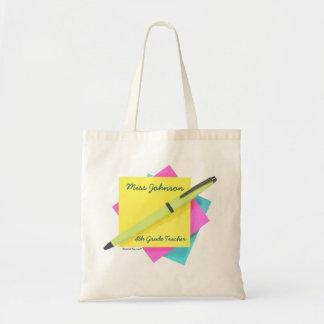 Pad & Pen. Canvas Bags