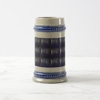 Padded Cell Walls Texture. Blue Leather Pattern Coffee Mug