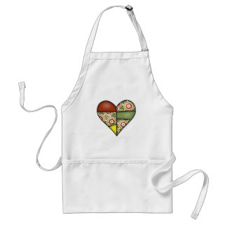 Padded Quilted Stitched Heart Multicolor-02 Standard Apron