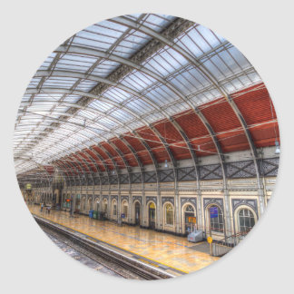 Paddington Railway Station Classic Round Sticker