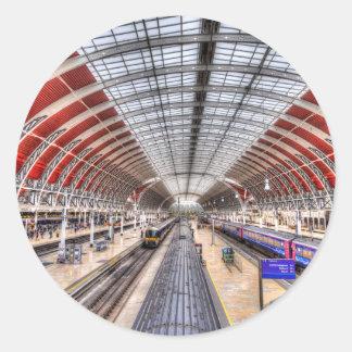Paddington Railway Station London Classic Round Sticker
