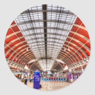 Paddington Station London Classic Round Sticker