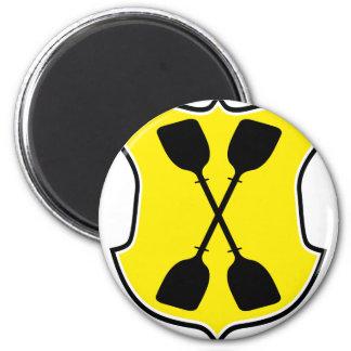 paddle 6 cm round magnet