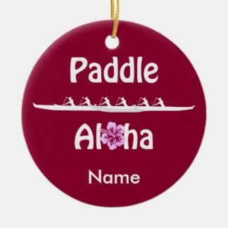 Paddle Aloha-Wahine Christmas Ornament