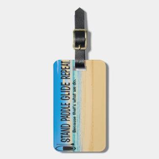 Paddle board luggage tag