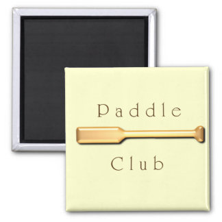 Paddle Club Square Magnet