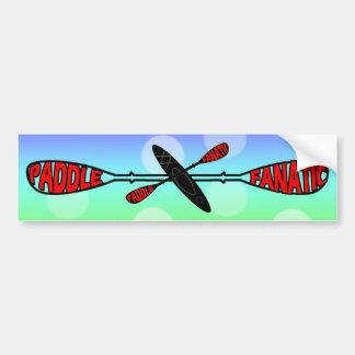 PADDLE FANATIC - KAYAK LOGO BUMPER STICKER