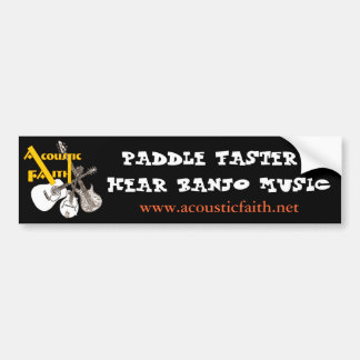 Paddle Faster Bumper Sticker