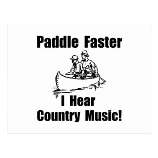 Paddle Faster Country Music Postcard