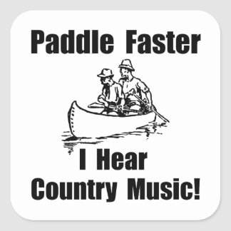 Paddle Faster Country Music Square Sticker