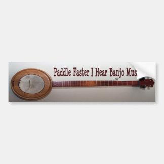 Paddle Faster I Hear Banjo Music Bumper Sticker
