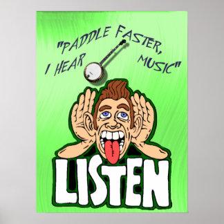 PADDLE FASTER I HEAR BANJO MUSIC-POSTER