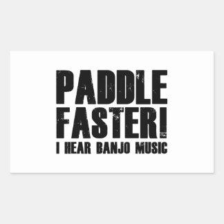 Paddle Faster I Hear Banjo Music Rectangular Sticker