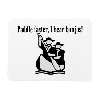 Paddle Faster I Hear Banjos Vinyl Magnets