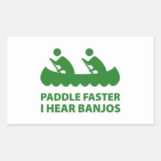 Paddle Faster I Hear Banjos Rectangular Sticker