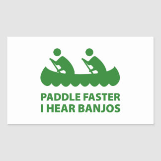 Paddle Faster I Hear Banjos Stickers