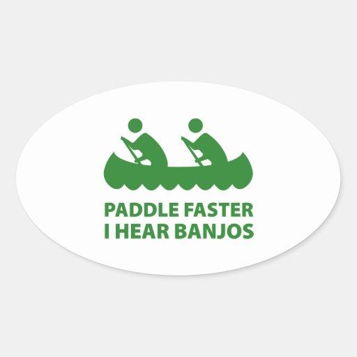 Paddle Faster I Hear Banjos Sticker