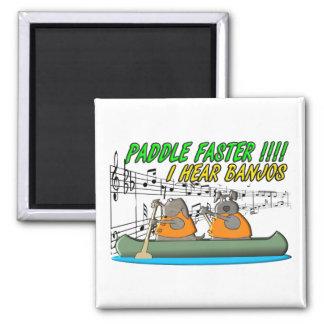 Paddle Faster Refrigerator Magnet