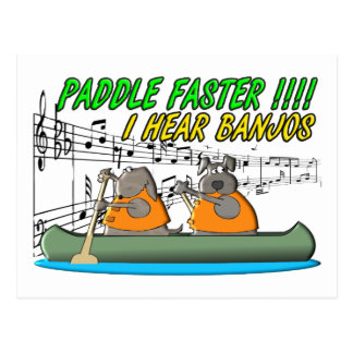 Paddle Faster Post Cards