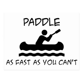 Paddle Faster Postcard