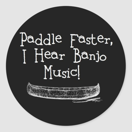 Paddle Faster Stickers