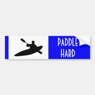 Paddle Hard Bumper Sticker