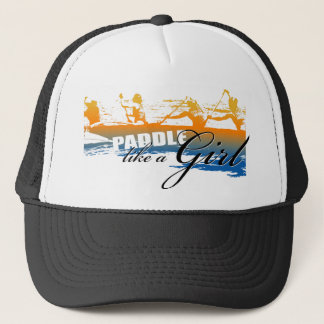 Paddle Like a Girl (black) Trucker Hat