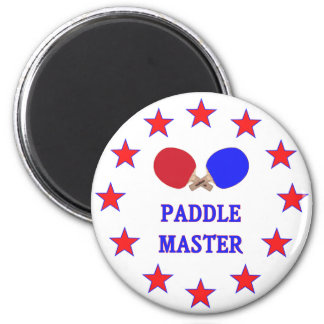 Paddle Master Ping Pong 6 Cm Round Magnet