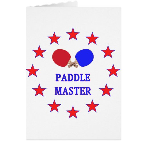 Paddle Master Ping Pong Note Card