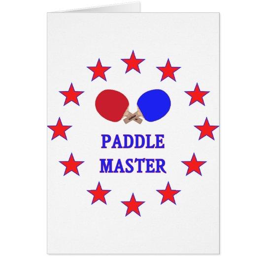 Paddle Master Ping Pong Note Card