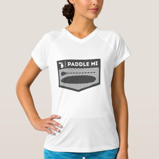 Paddle MI  Michigan Women's Dry V-Neck T-Shirt