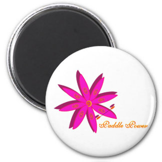 Paddle Power (Pink) 6 Cm Round Magnet