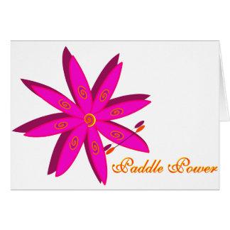Paddle Power (Pink) Greeting Card