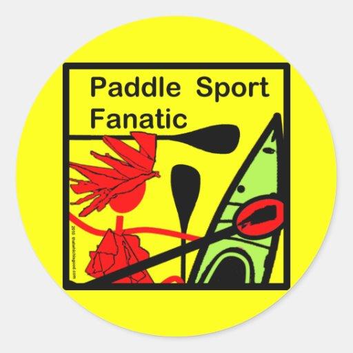 Paddle Sport Fanatic Fun Round Stickers