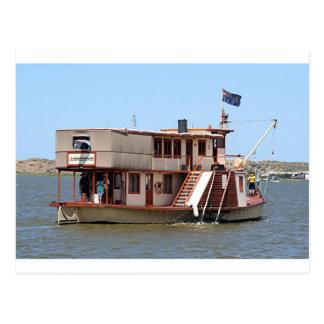 Paddle steamer, Australia Postcard