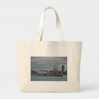 Paddle Steamer Waverley Large Tote Bag