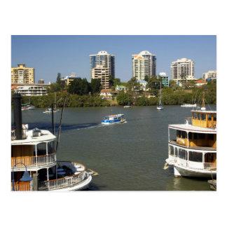 Paddle Steamers, Brisbane River, Brisbane, Postcard