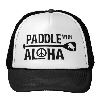 Paddle with Aloha Trucker Hat in Black/White