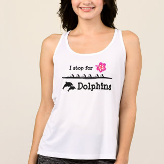 Paddle with Dolphins Tank Top