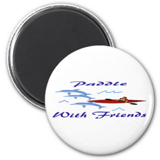Paddle With Friends Refrigerator Magnets