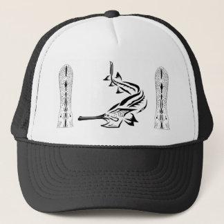 Paddlefish & Rostrum Design Trucker Hat
