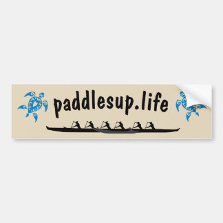 Paddles Up Bumper Sticker