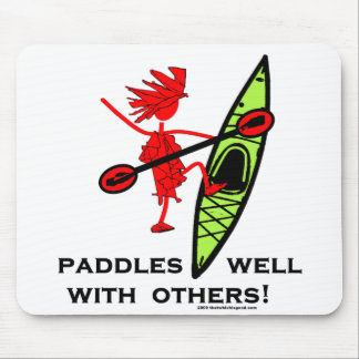 Paddles Well With Others Mouse Mat