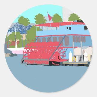Paddlewheel Sticker